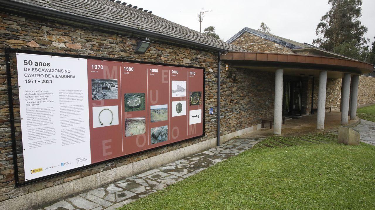 Paneles en el exterior del museo de Viladonga