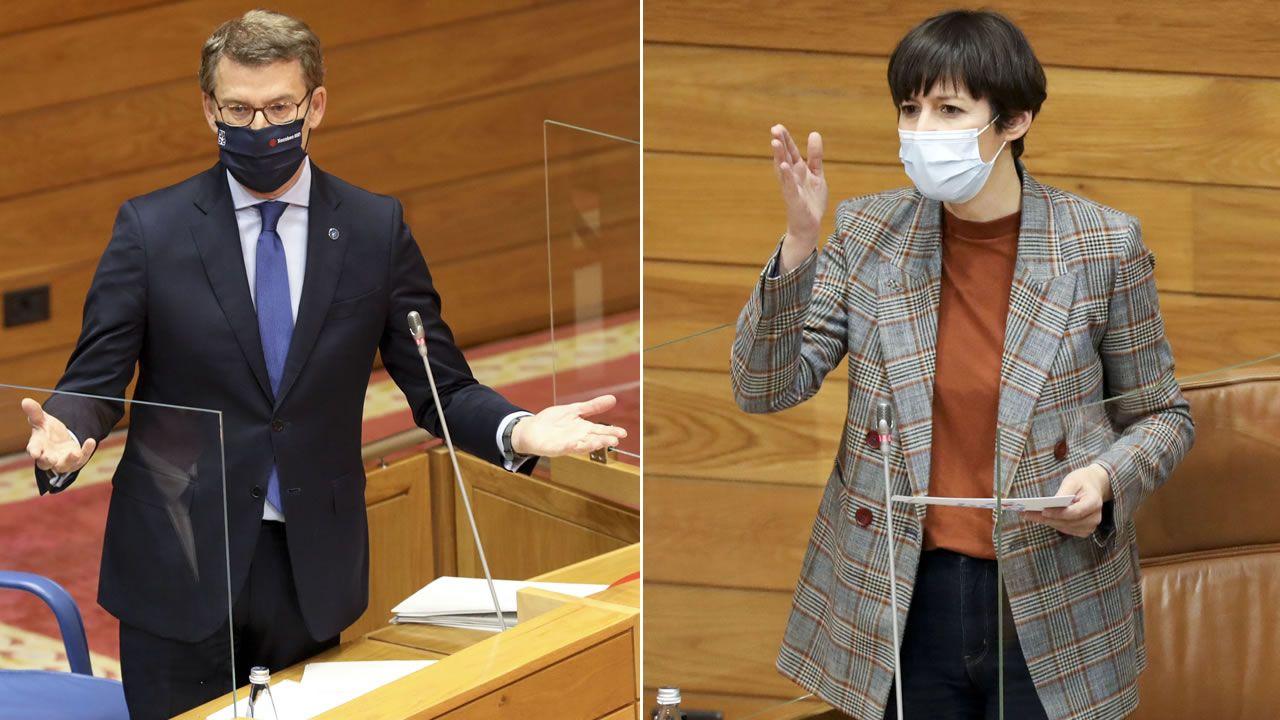 Feijoo y Pontón, en el Parlamento este martes