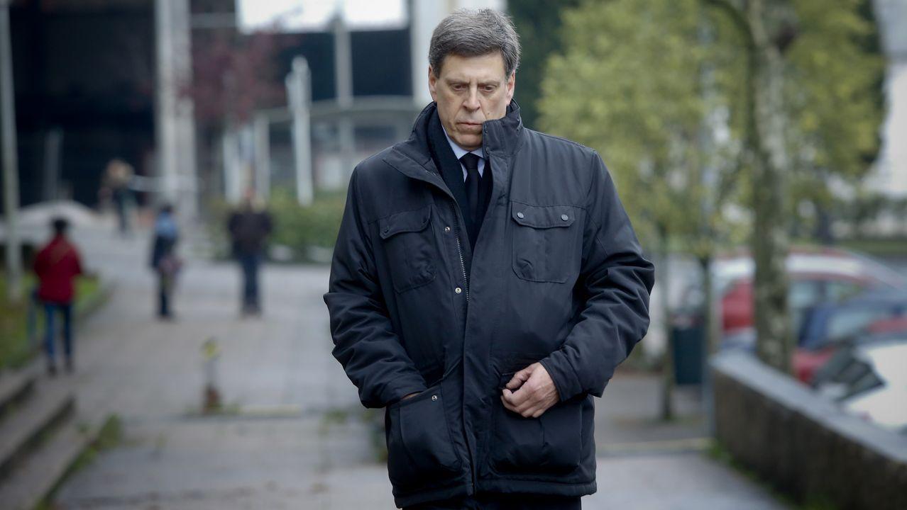 Juan Carlos Quer a la llegada a la quinta jornada del juicio