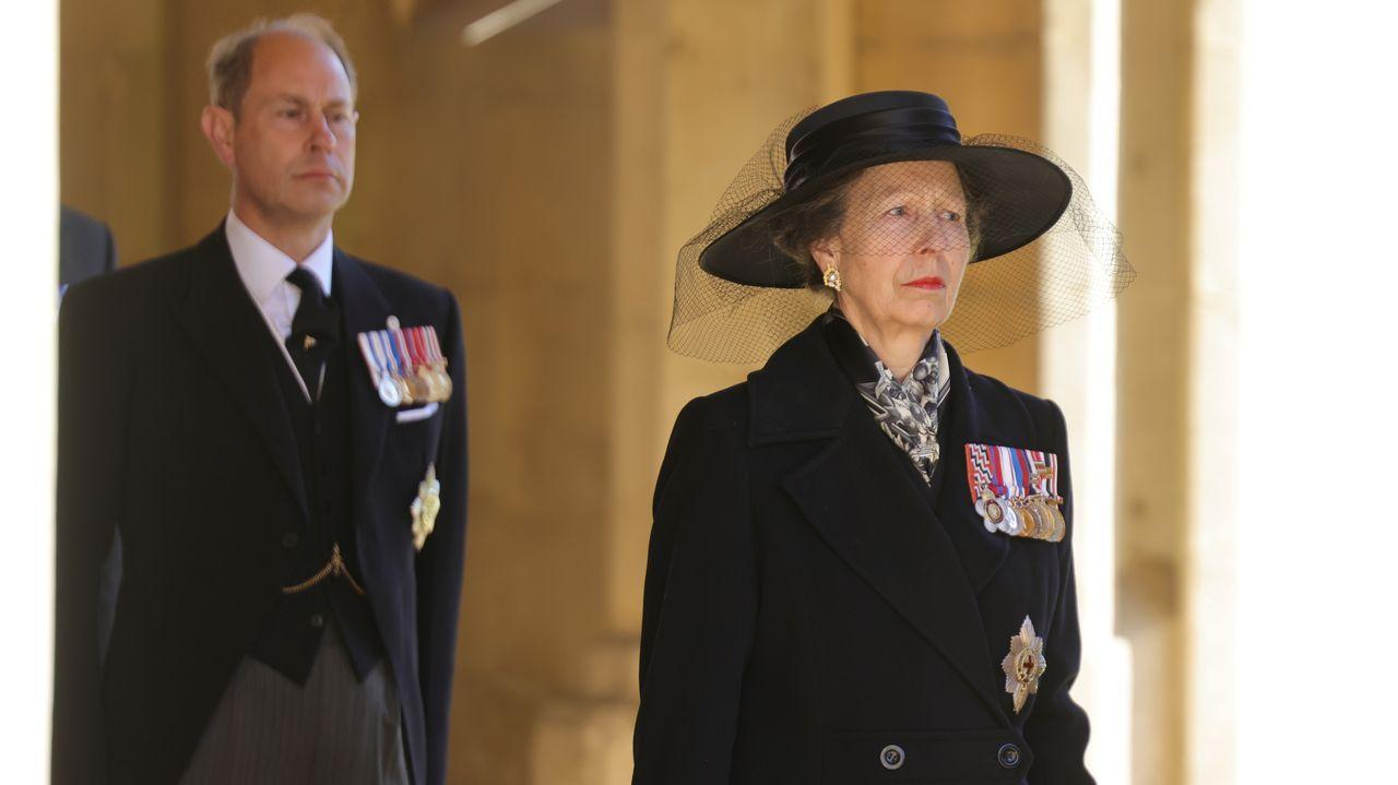 La princesa Ana y el príncipe Eduardo