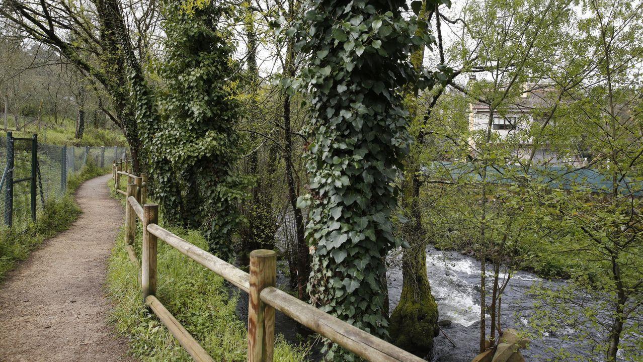 Así están las termas de A Chavasqueira.Río Airoa a su paso por Xinzo de Limia