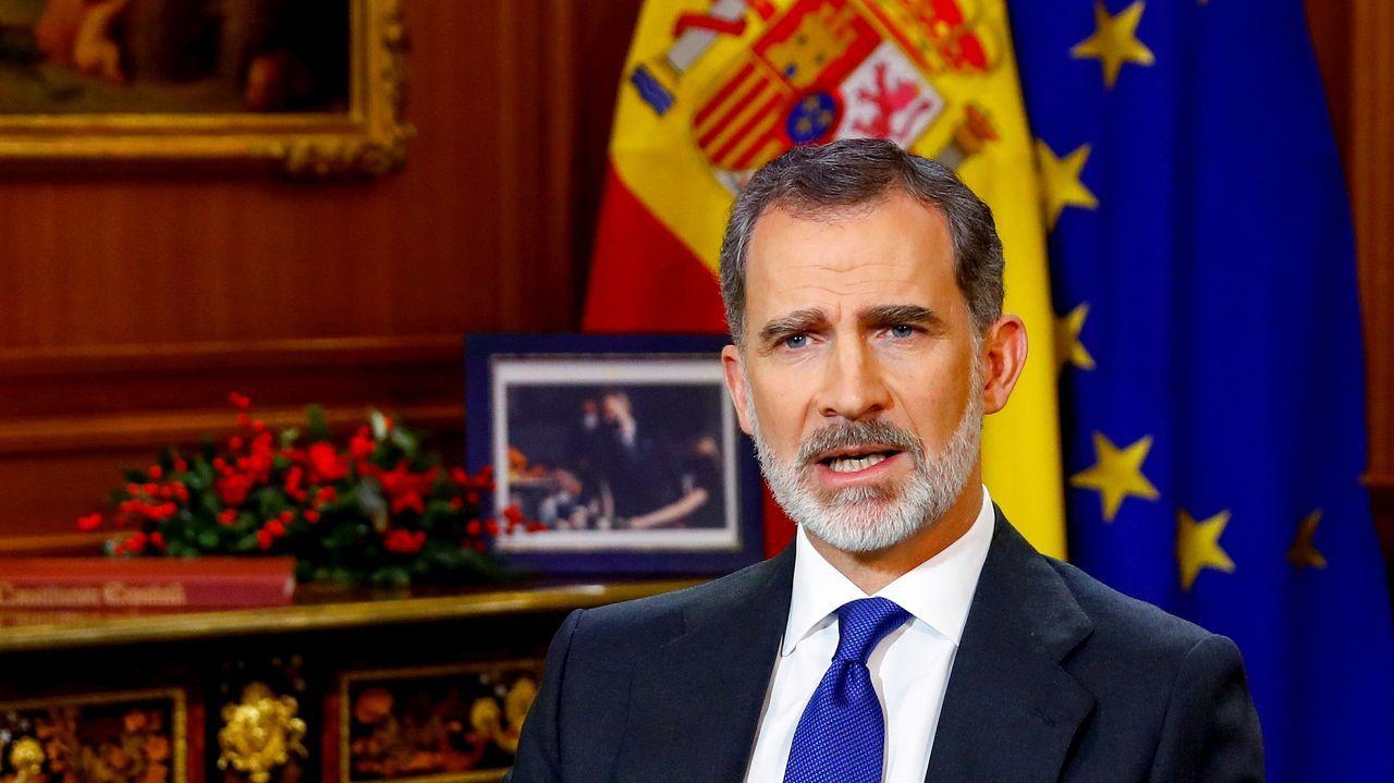 Pedro Sánchez hace una valoración del año 2020.Felipe VI, durante el discurso de Navidad