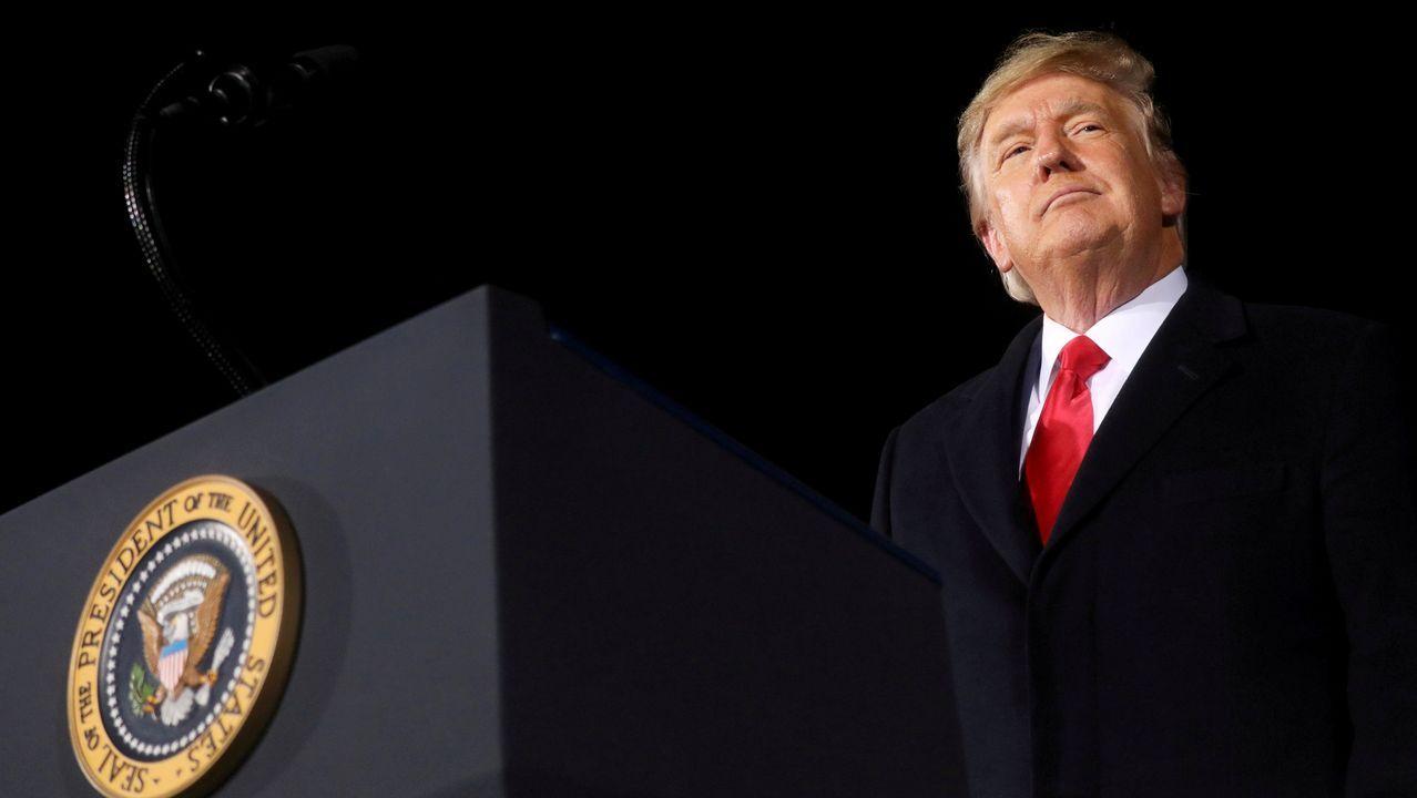 Trump, durante un acto de campaña en Georgia el pasado 4 de enero