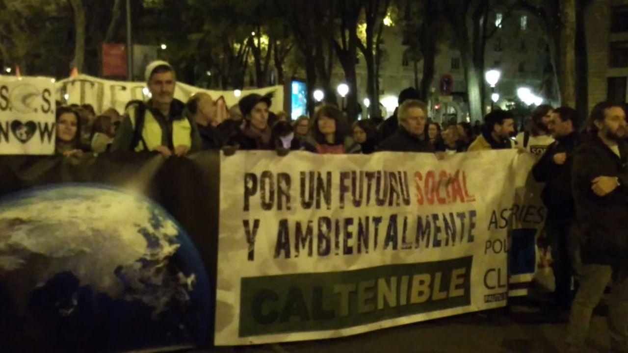 Ecoloxistes Asturies en la movilización por el clima, en Madrid