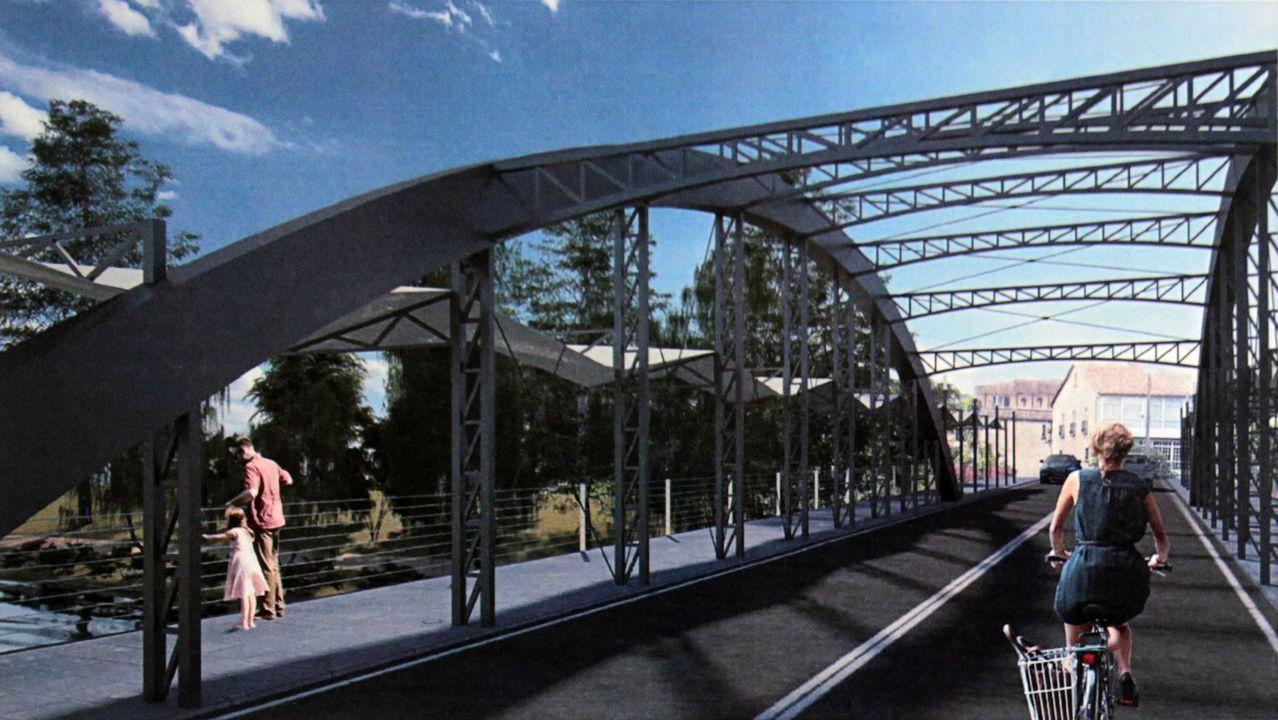 Recreación virtual del proyecto ganador para la construcción de un nuevo puente sobre el Cabe