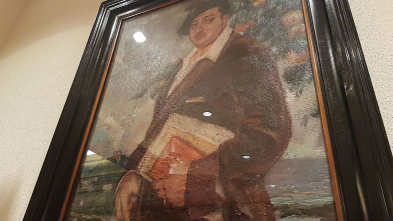 Avilés identifica un cuadro del llamado «Pintor la patria»