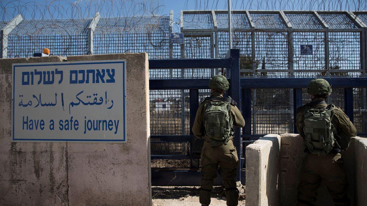 Puesto de control israelí en los Altos del Golán