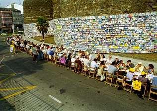 El primer Comilonum coincidió con Cumulum, otra iniciativa en pro de que la Muralla fuera bien mundial