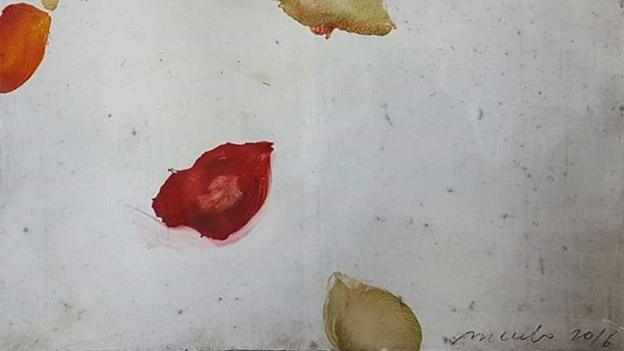 Antonio Murado lleva tres años, de forma ininterrumpida, donando una de sus obras para el sorteo de Manos Unidas Lugo. La pieza de esta edición fue un cuadro de pequeño formato de la colección «Pétalos» y se sorteó el pasado día 16.