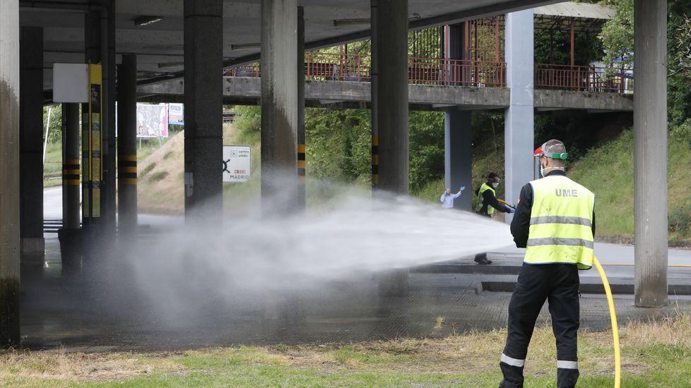 También la UME ha realizado labores de desinfección en la provincia