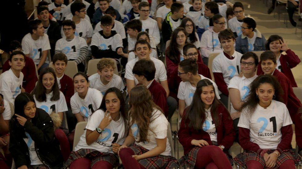 Todos os alumnos da ESO do colexio Fogar de Santa Margarida da Coruña participan no programa de «21 días co galego e +» de forma obrigatoria.