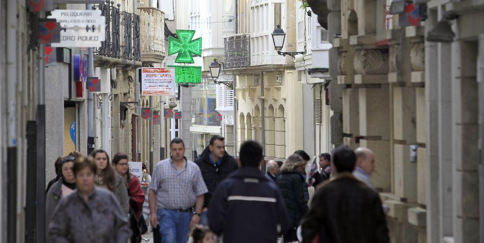 La calle Pastor Díaz sigue siendo el tramo comercial con los precios más caros de alquiler de todo el municipio de Viveiro.