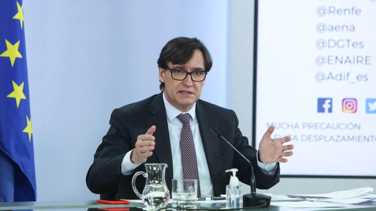 Salvador Illa comparece tras su último Consejo de Ministros.Carolina Darías, en una imagen de archivo, durante una intervención en el Senado