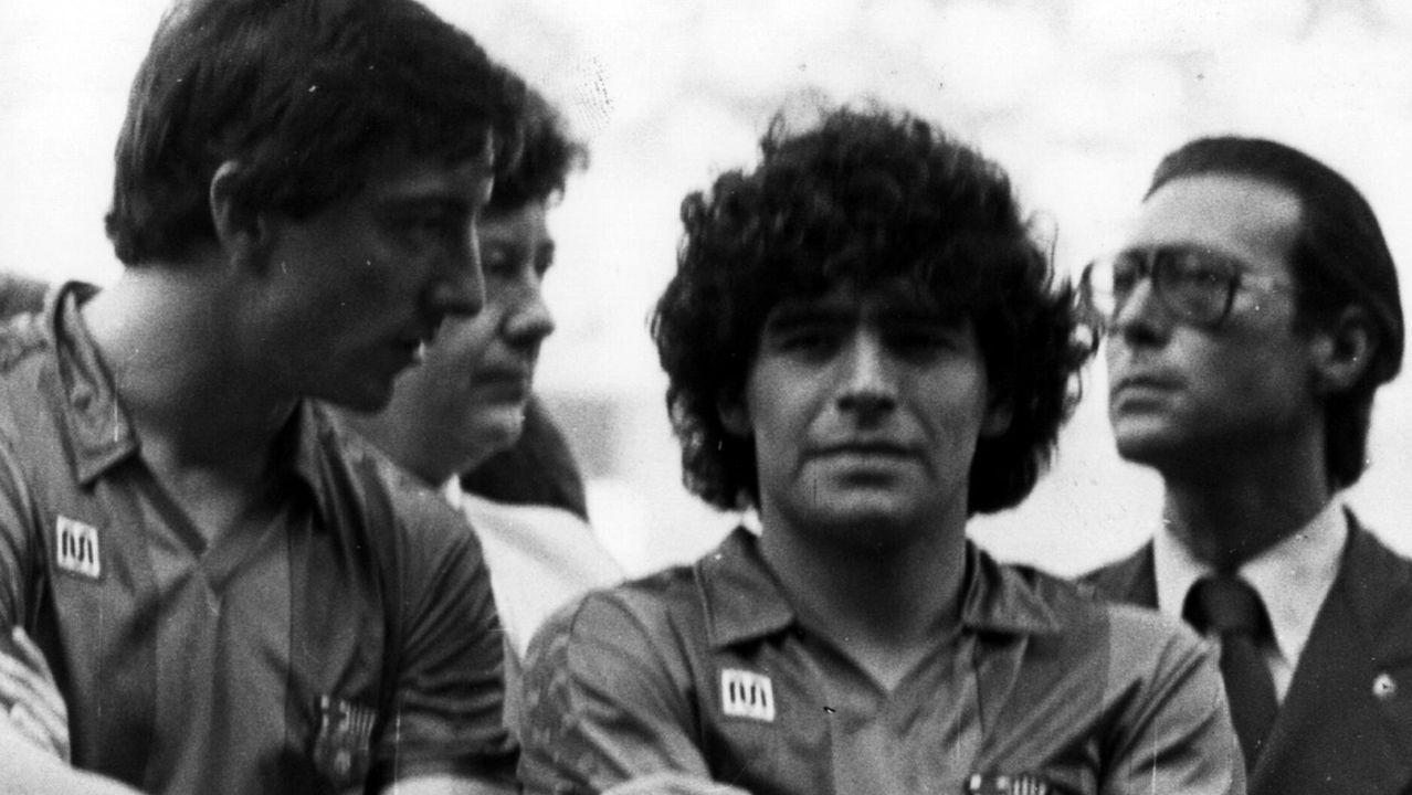 En su época en el Barcelona, en 1982