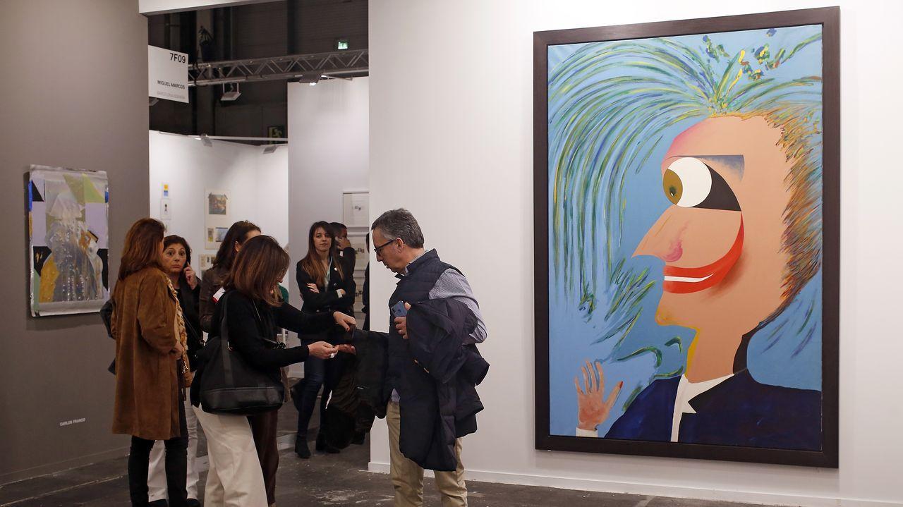 Un muy celebrado lienzo de Carlos Alcolea y una pieza de Carlos Franco en la galería Miguel Marcos