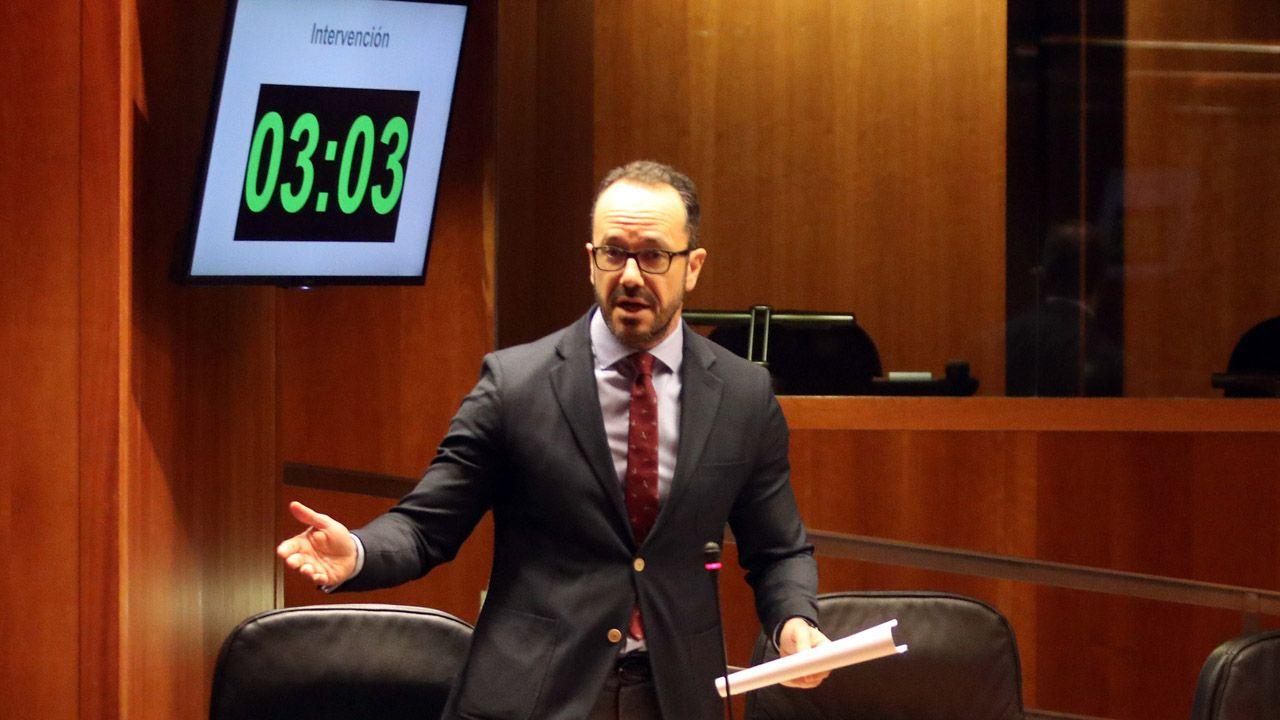 El portavoz de Vox, Ignacio Blanco, en la Junta General