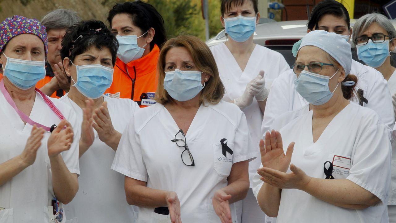 Primer día de desescalada en Arousa.Entrada del servicio de Urgencias del Hospital Montecelo de Pontevedra