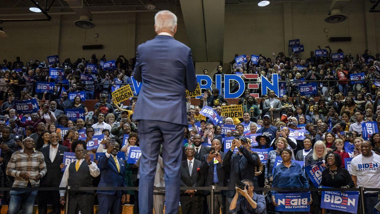 Biden, en un acto de campaña en Norfolk, Virginia