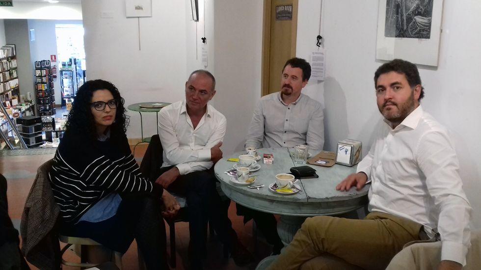 El consejero Genaro Alonso inauguró el curso de los centros de educación de personas adultas (Cepas) en San Martín del Rey Aurelio.Vanessa Gutiérrez, Xuan Bello y Jonás Fernández
