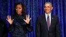 Michael y Barack Obama, en en un acto en el 2018