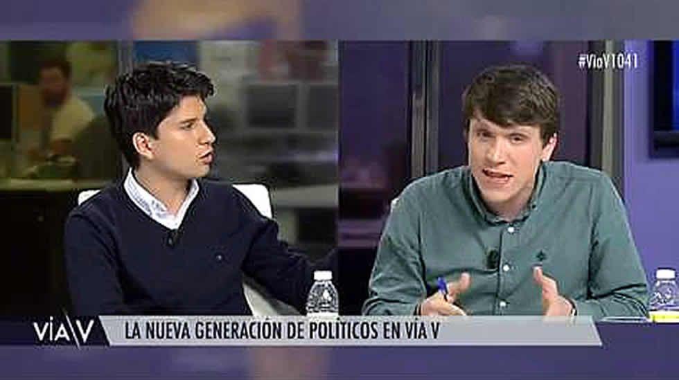Bronca entre las juventudes del PP y PSOE por... ¡La guerra civil!.Captura de la señal de la Audiencia Provincial de Madrid en la que se ve al doctor Vela