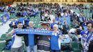 Aficion Real Oviedo Elche Martinez Valero.Buena presencia oviedista en el Martínez Valero