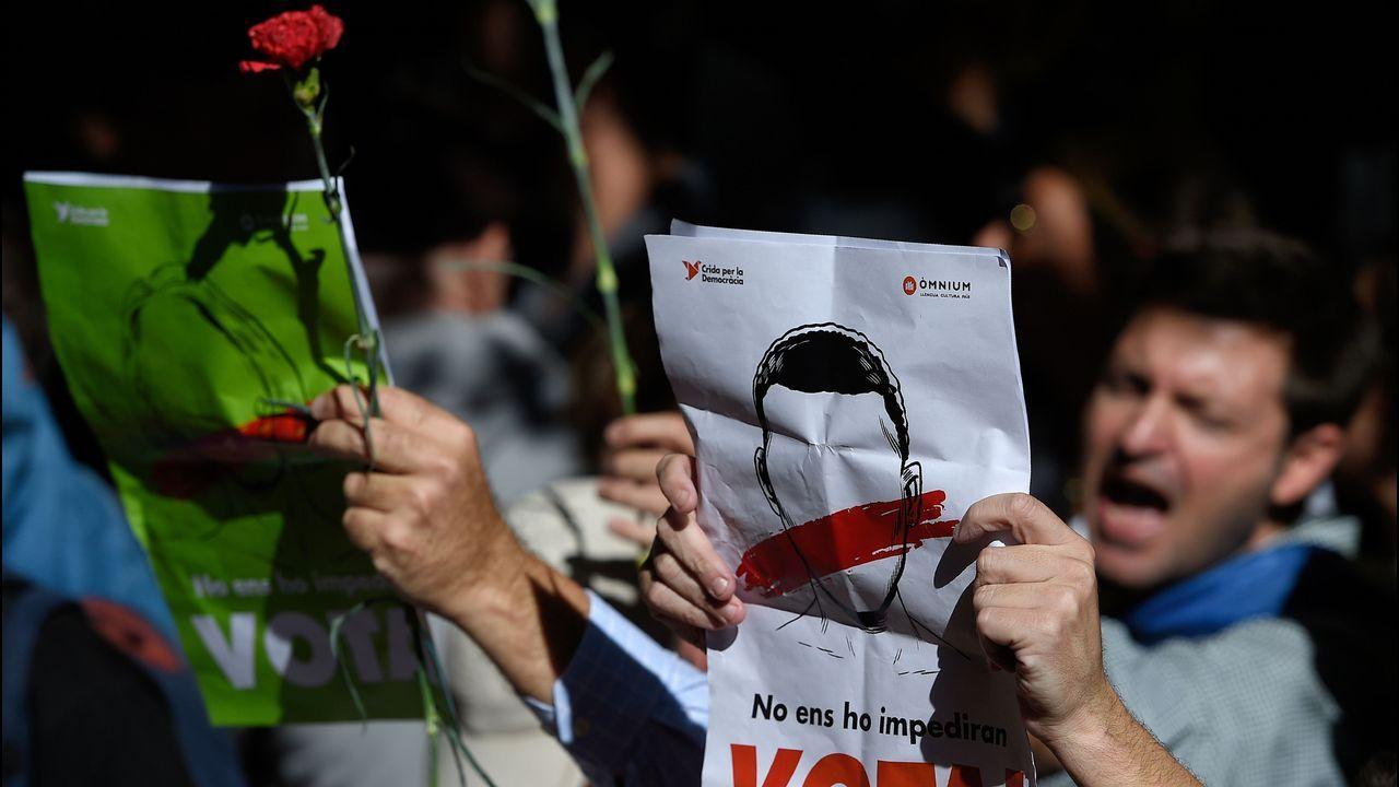 q.Protestas en las calles de Barcelona