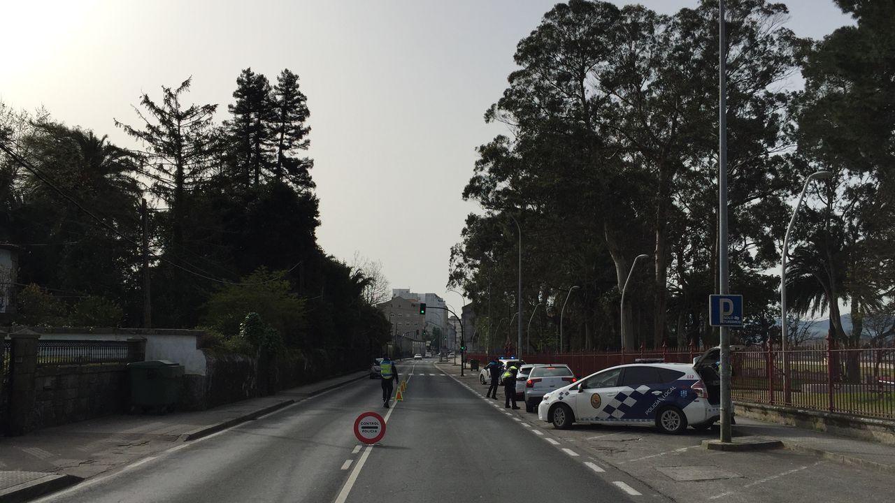 Control de la Policia Local de Vilagarcía