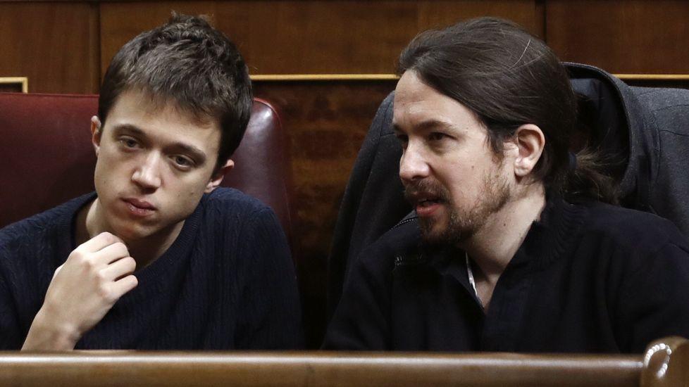 Errejónvincula la fuerza de Podemos al«tándem»con Pablo Iglesias.Bescansa, en una imagen del 2015