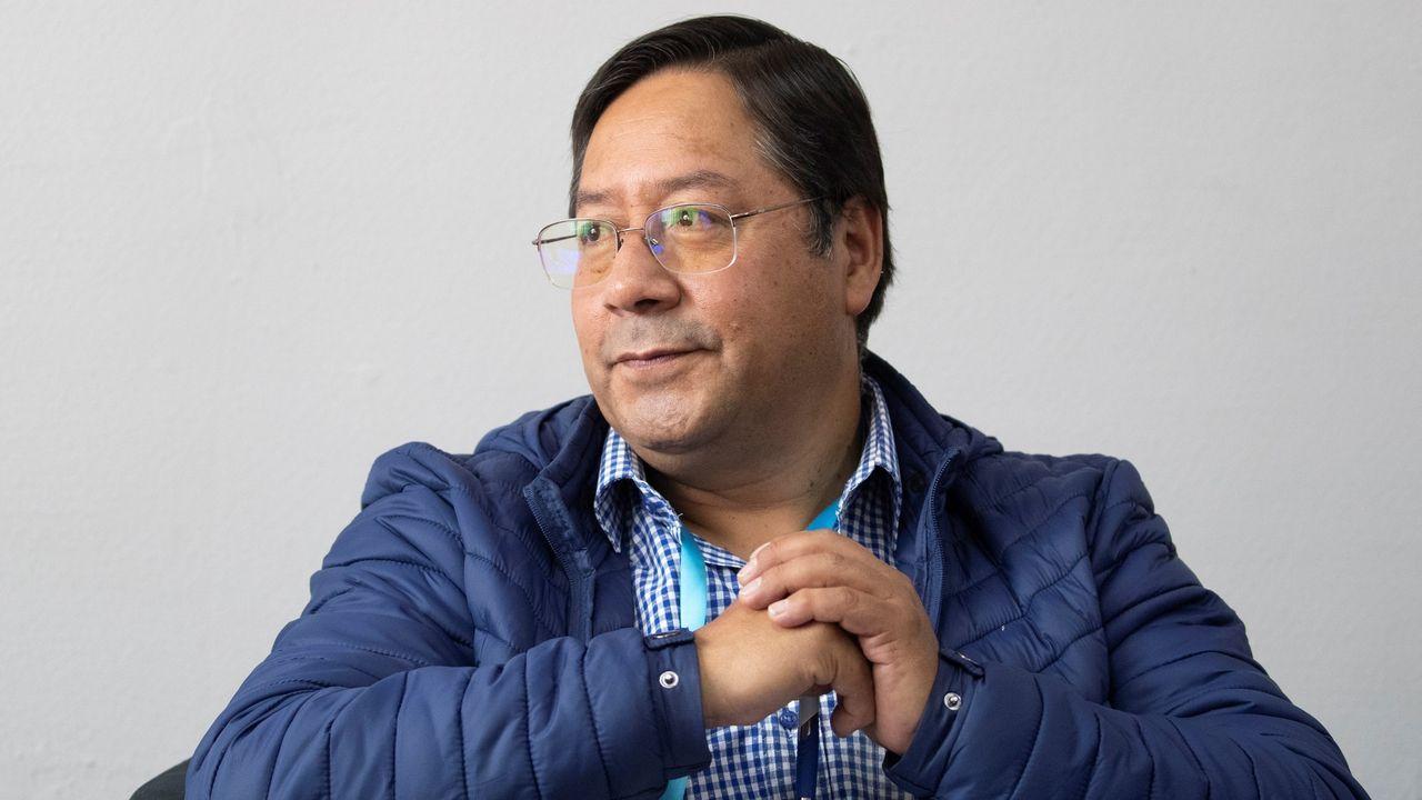 El candidato a la Presidencia de Bolivia por el partido MAS-IPSP (Movimiento al Socialismo-Instrumento Político por la Soberanía de los Pueblos), Luis Alberto Arce