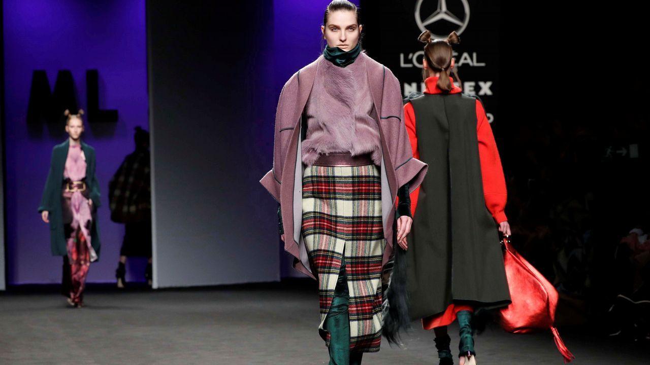 Así fue el desfile delos diseños de Marcos Luengo en la Madrid Fashion Week.El cuidado de la familia es uno de las reglas que se repite