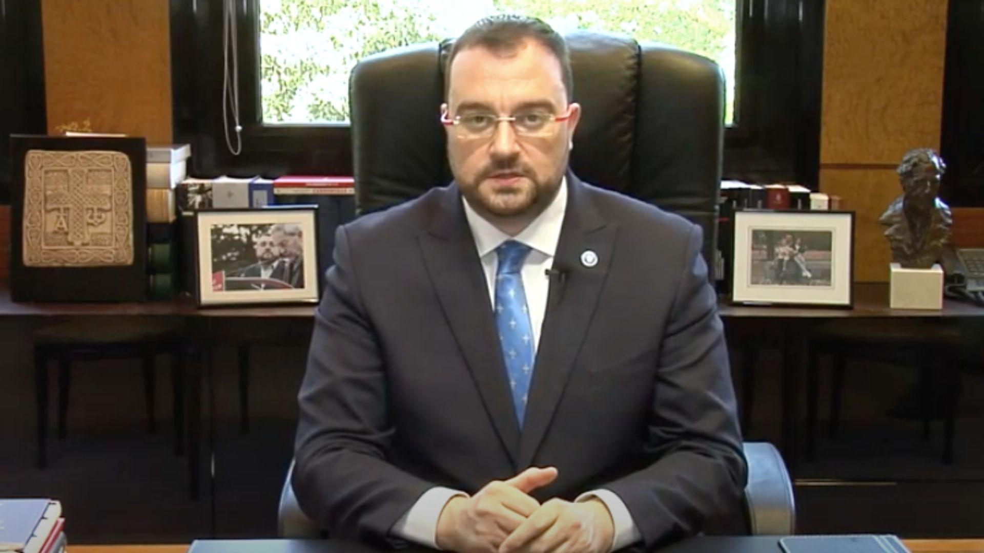 El presidente asturiano, Adrián Barbón