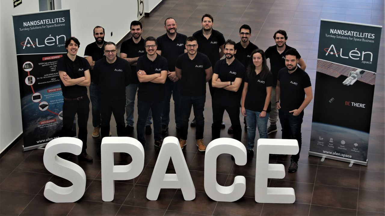 Parte del equipo de Alén Space en una imagen del 2019. Actualmente, la mayor parte de la plantilla está teletrabajando