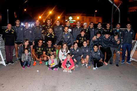 Miembros del CD San Paio participantes en la prueba.