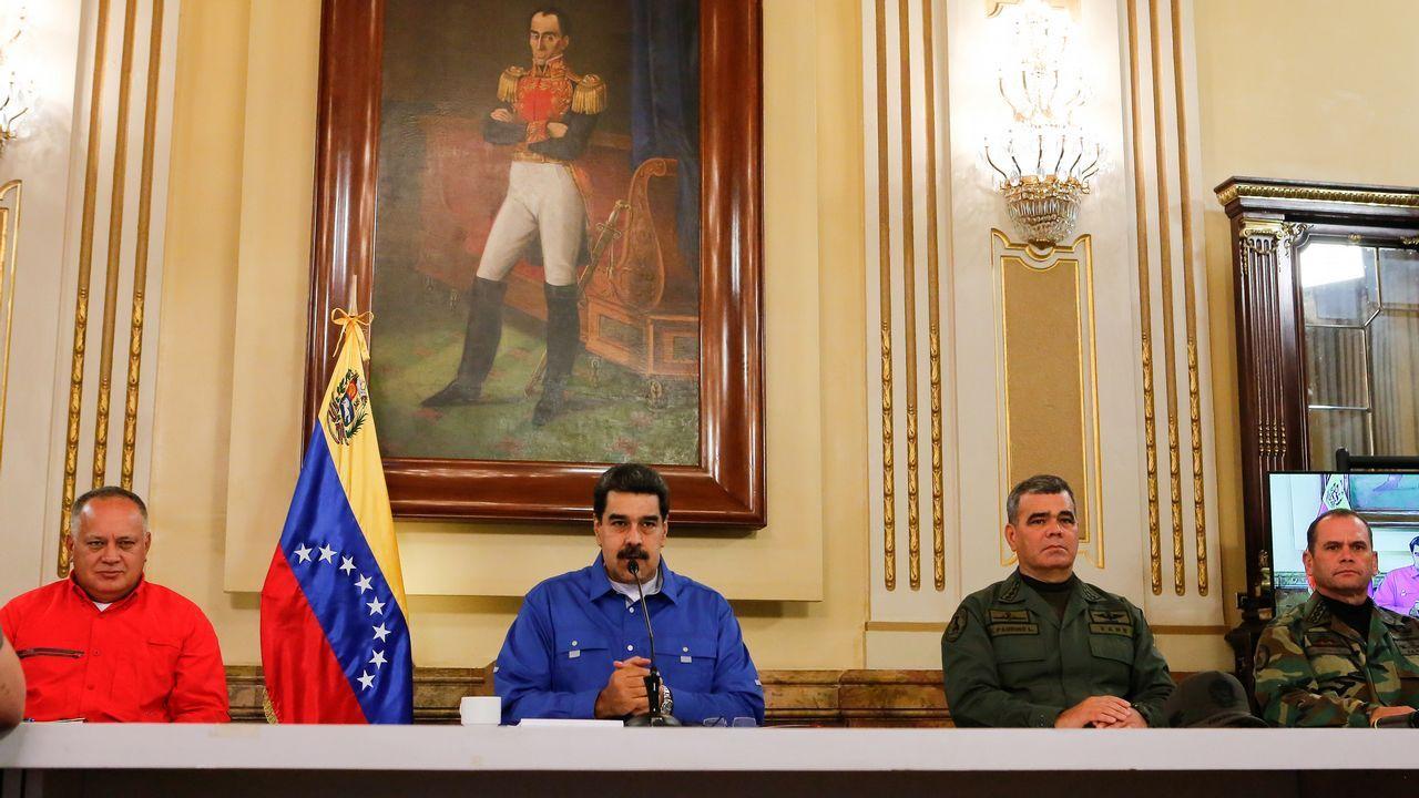 Así ha quedado la casa de Leopoldo López tras ser allanada.Nicolás Maduro