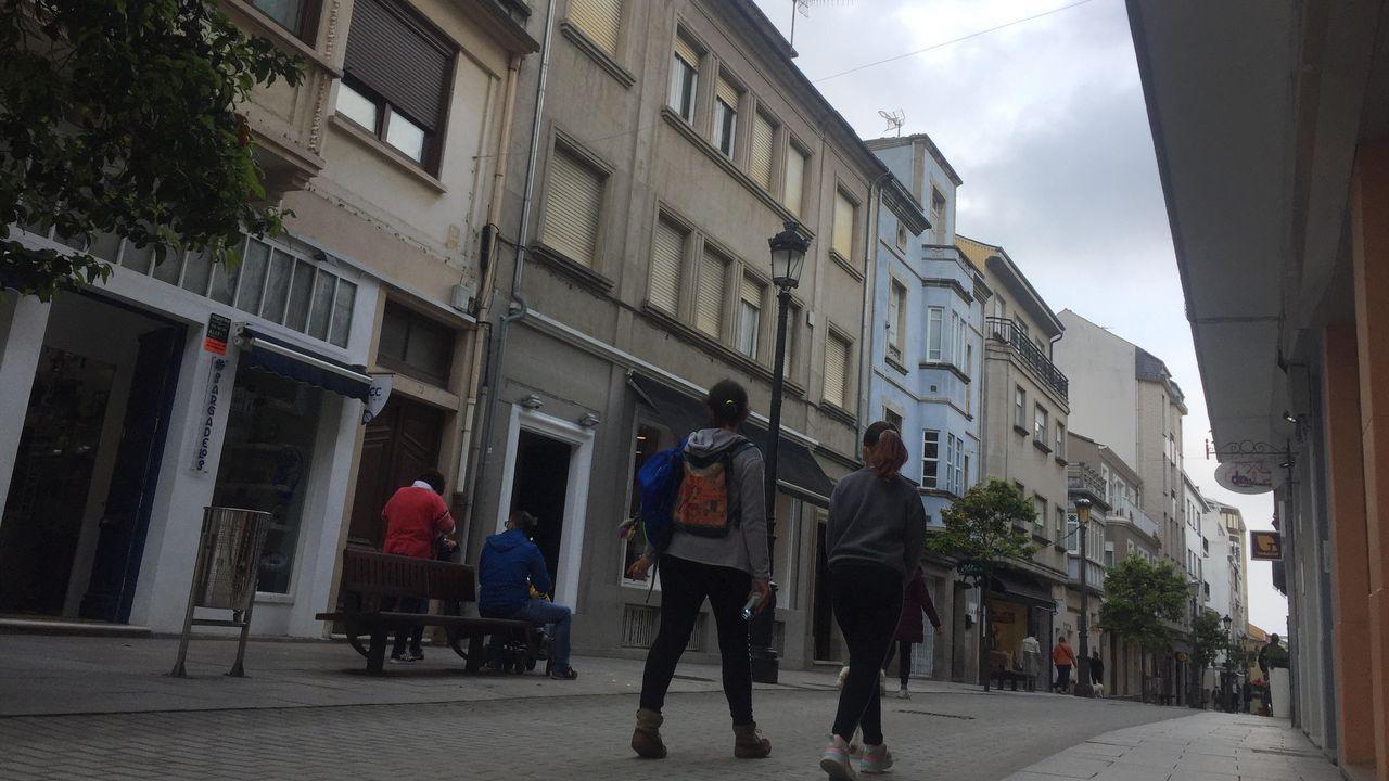 El piso legado está en plena calle peatonal