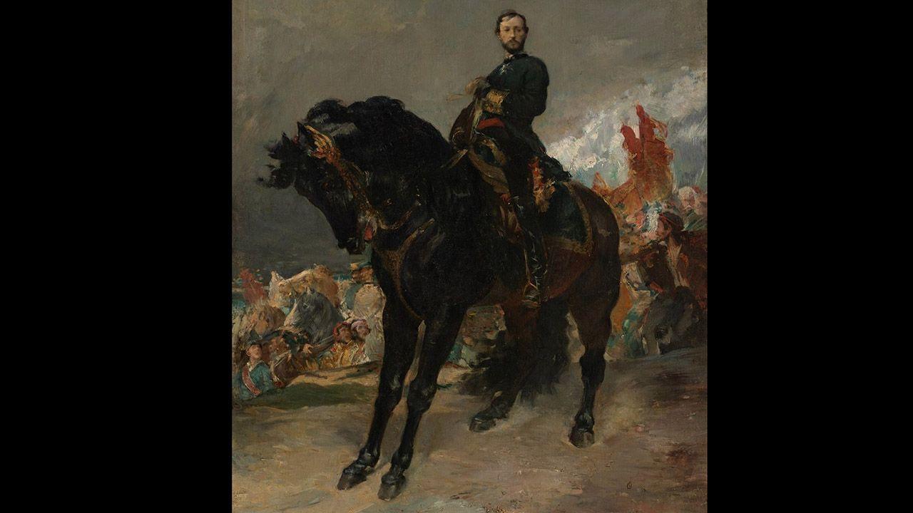 Juan Prim, 8 de octubre de 1868 (1869), de Henri Regnault, copia. Colección Villagonzalo