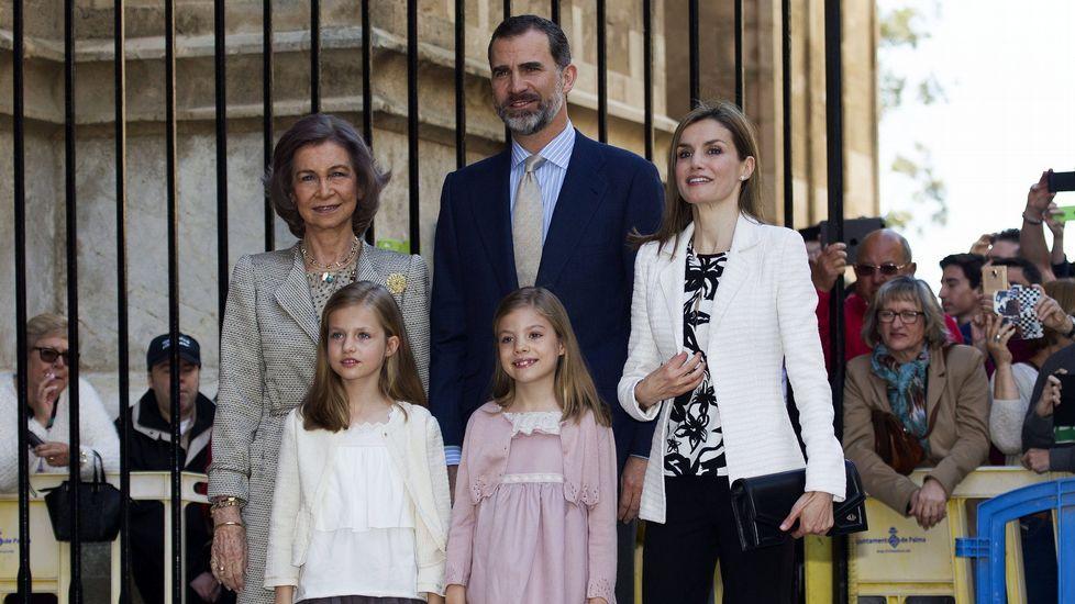 En abril del 2015 en la misa de Pascua en Mallorca.