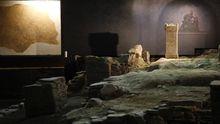 La USC quiere en el futuro ampliar la excavación hacia el cabecero del mitreo de Lugo