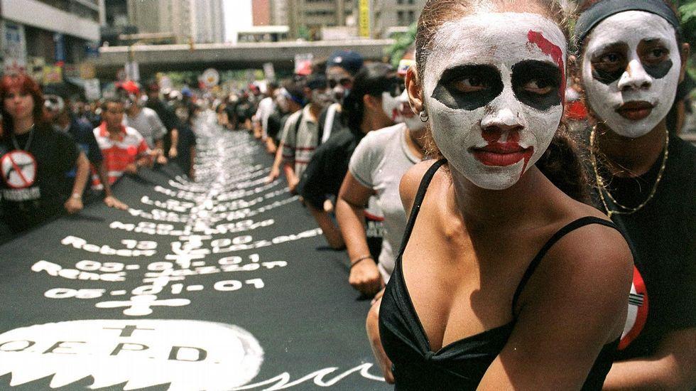 Manifestación en Buenos Aires contra la violencia machista y por la despenalización del aborto