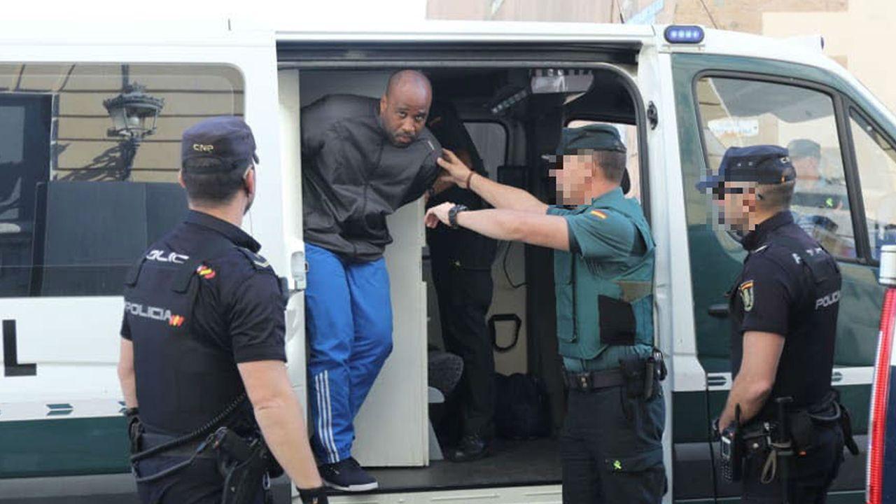 Los antecedentes de Frabrizio, el preso más peligroso de España.La detenida, al salir del juzgado rumbo a prisión
