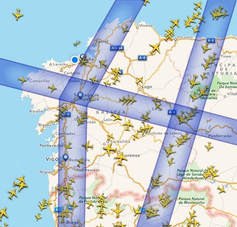 El terremoto de México, en imágenes.Las tres rutas de mayor flujo aéreo según datos de Flightradar24