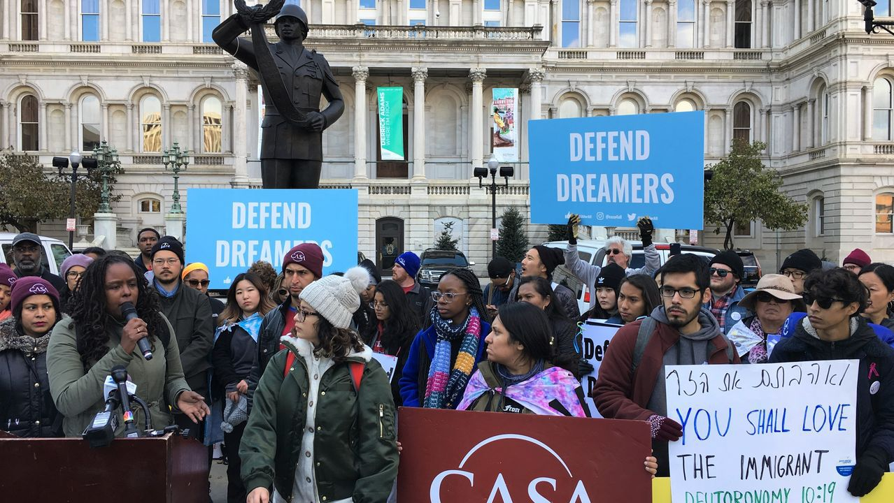 | EUROPA PRESS.Marcha de los «dreamers» a su llegada a Baltimore