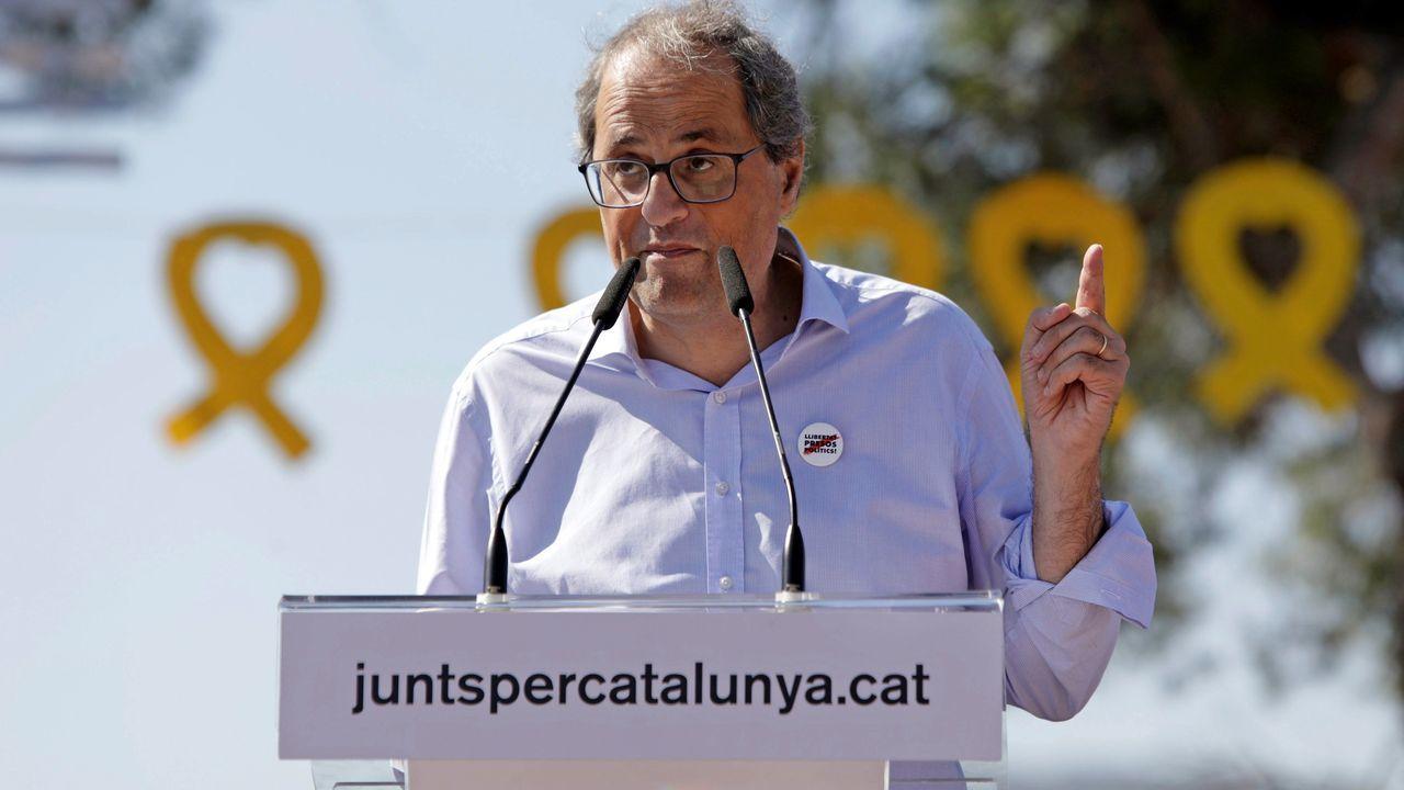 La cronología del «procés», en imágenes.Carles Puigdemont, este martes, durante una manifestación en Bruselas para conmemorar el 1-O
