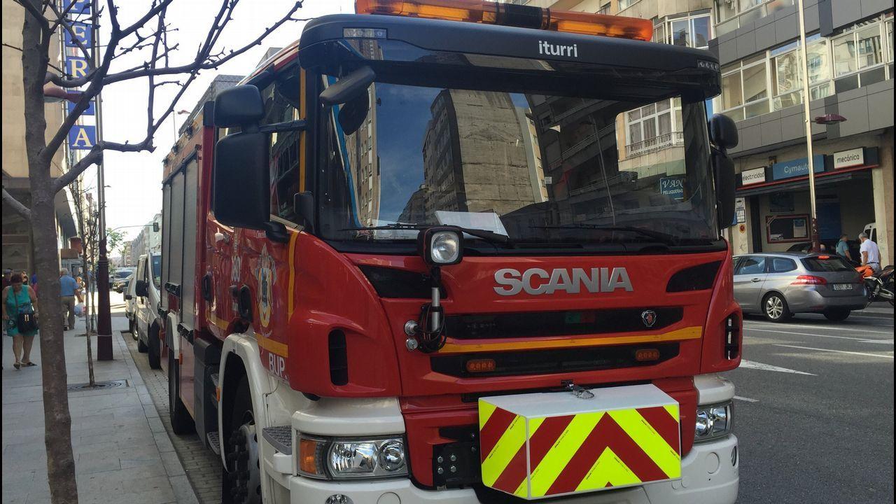Un camión de bomberos en Vigo, en una imagen de archivo