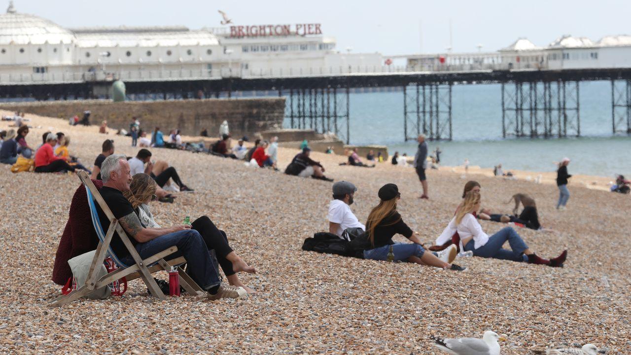 Playa en Brighton, en Reino Unido