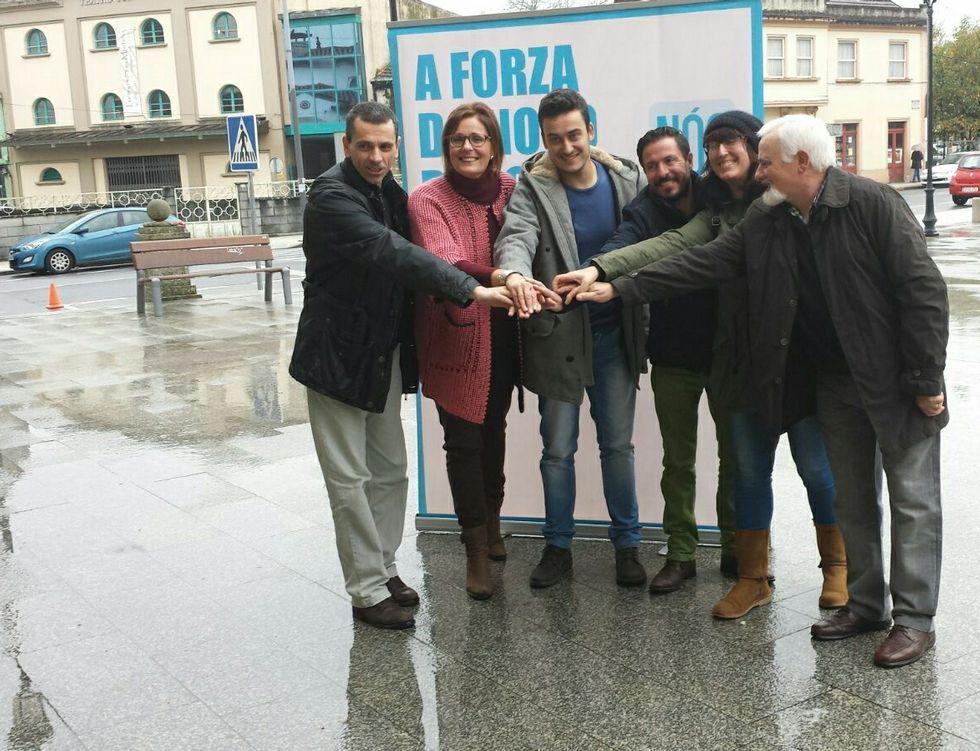 Nós-Candidatura Galega presentó sus propuestas en A Estrada.