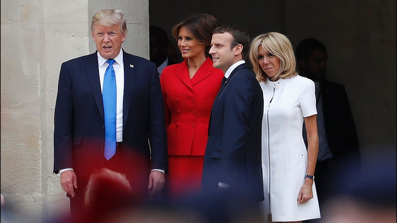 Melania Trump repite moda española.El príncipe Harry, junto a Melania Trump en Toronto