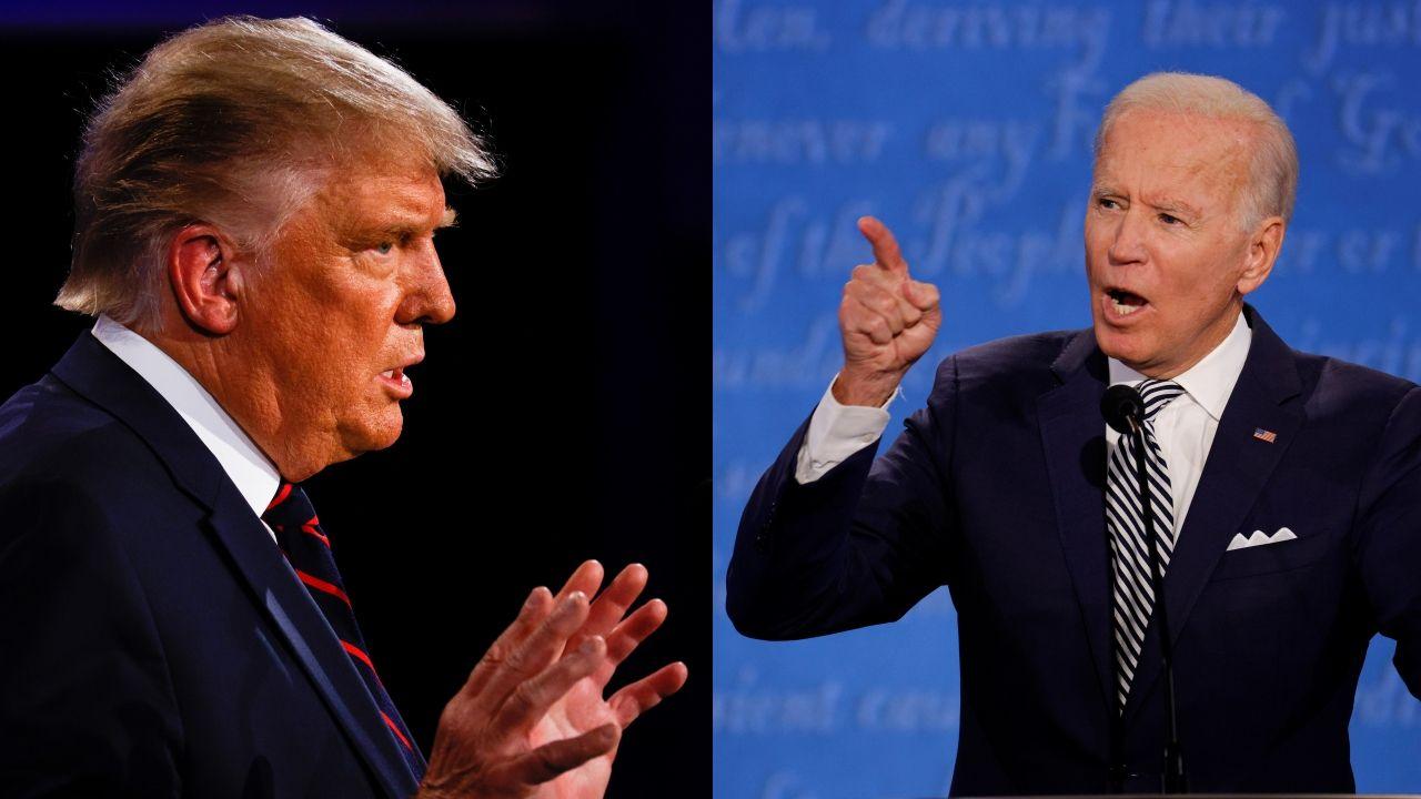 Trump intenta desorientar a Biden en un primer debate caótico y agrio.Donald Trump en un acto de campaña en Florida
