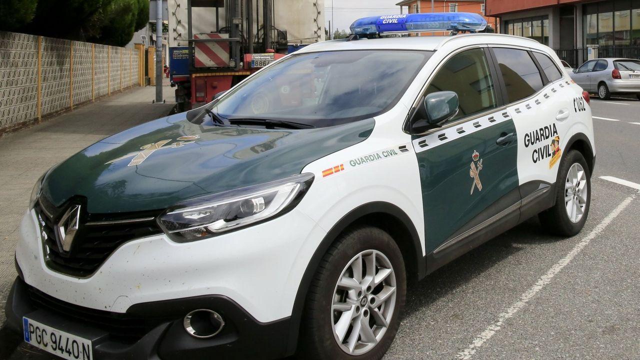 Un vehículo de la Guardia Civil, durante otro operativo